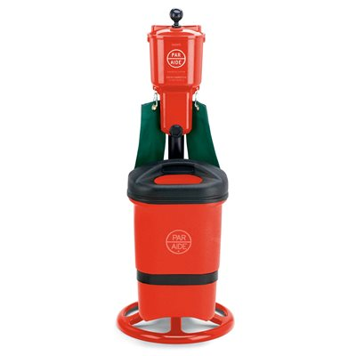 Deluxe Ball Washer Ensemble with Single Trash Mate, Red