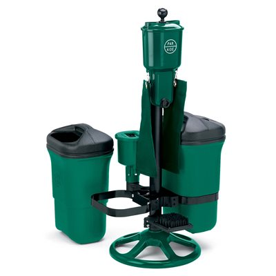Deluxe Ball Washer Ensemble w / Dbl Trash Mate, Spk Brush, Club Washer & Bracket, Hunter Green
