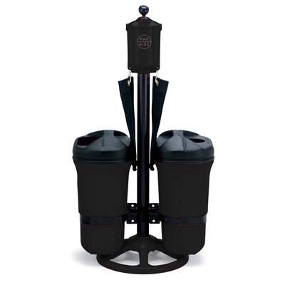 Master Ball Washer Ensemble with Double Trash Mate, Black